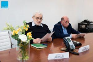 Aristide Missiroli e Giovanni Vento, presidente e vicepresidente della Cassa