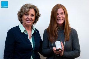 Monica Piedimonte premiata da Mariagrazia Terenzio, consigliere Galeno