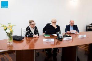 Mariella Armati, mamma di Eleonora Cantamessa, Aristide Missiroli, presidente Cassa Galeno e Giovanni Vento, vice presidente Cassa Galeno