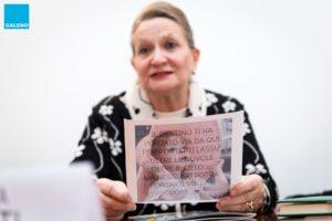 Mariella Armati, mamma di Eleonora Cantamessa, legge le lettere scritte dalle pazienti di Eleonora