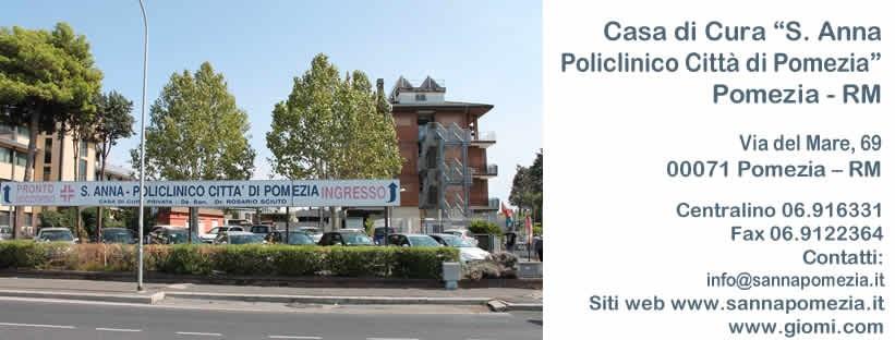 Casa di cura S. Anna, policlinico Città di Pomezia: la nuova convenzione Galeno